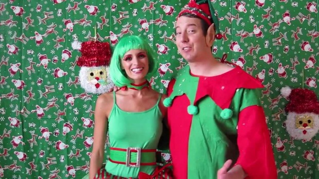 Kyle and His Wife in Christmas Celebrations