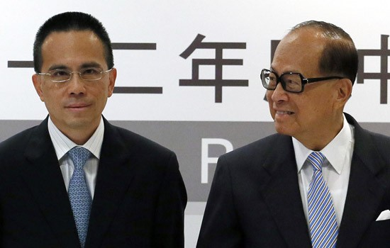 Li Ka Shing  with his Son Richard Li