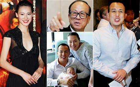 Li ka Shing Son Richard and his Daughter-in-Law Isabella Leong Lok Si with their Baby