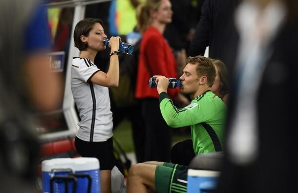 Kathrin Glich and Manuel Neuer