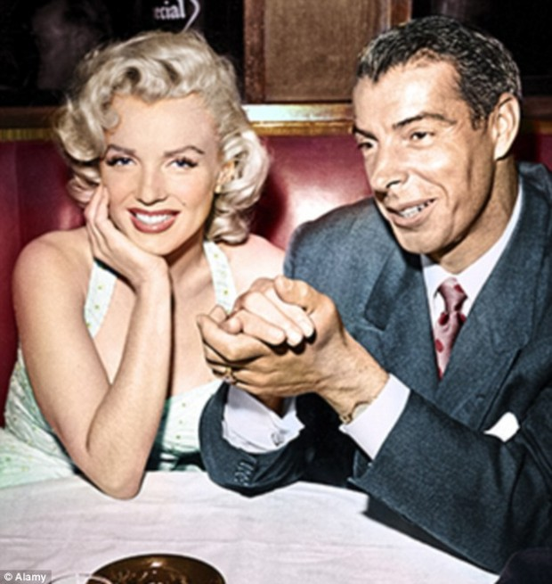Marilyn Monroe with her Husband Dimaggio