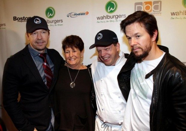 Mark Wahlberg with His Brothers and Mother