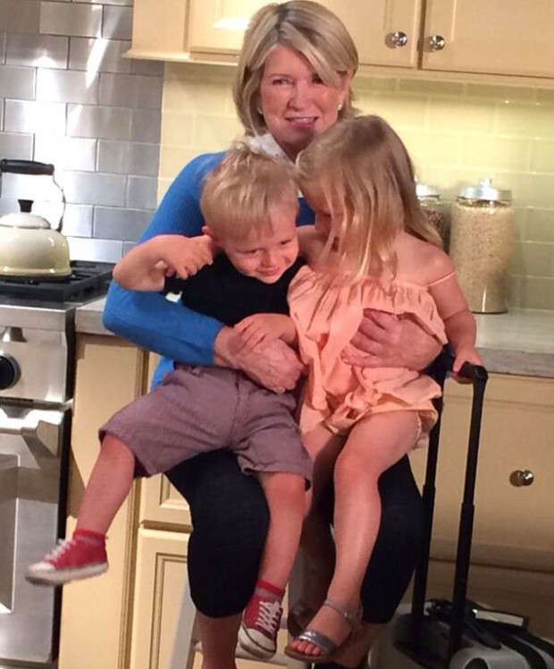 Martha Stewart with her grand children