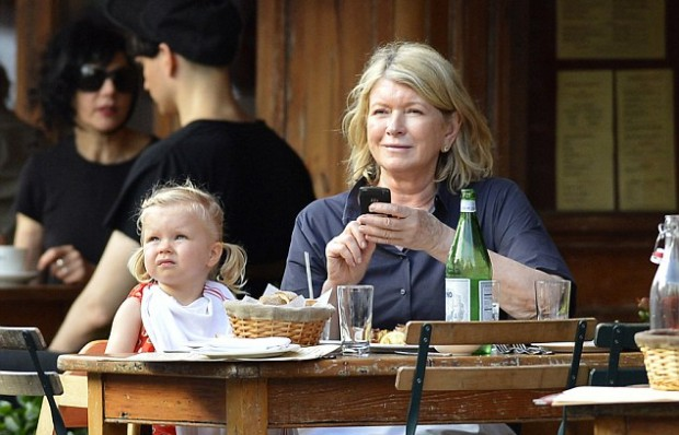 Martha Stewart with her grand daughter