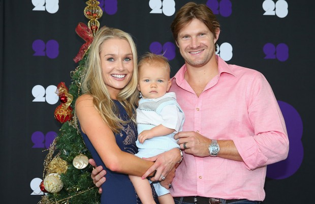 Shane Watson Couple with their Daughter Matilda Victoria