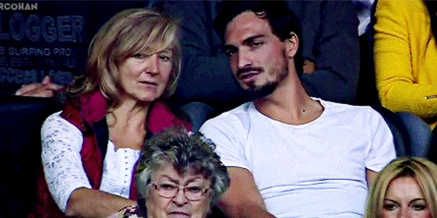 Mats with his mom