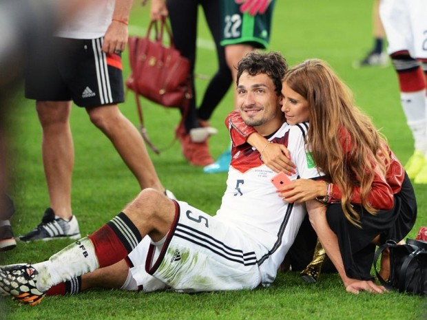 Cute Couple Mats Hummels and Cathy Fischer