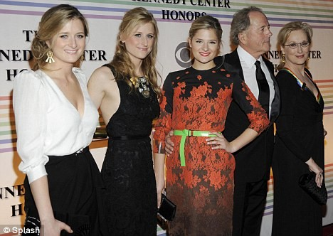 Meryl Streep Joined by her Daughters & Husband at the 34th Annual Kennedy Center Honors in Washington