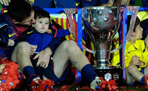 Messi Celebration with son Thiago