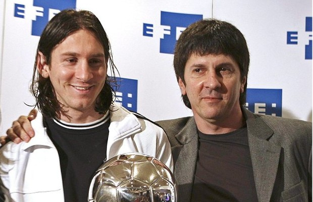 Messi with his father Jorge Horácio Messi