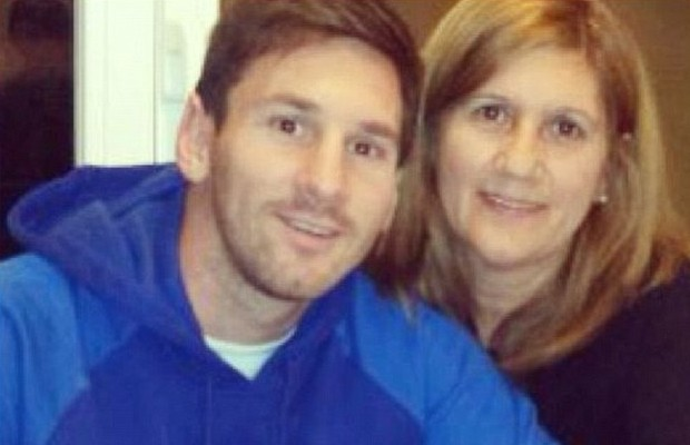Messi with his mom Celia María Cuccittini
