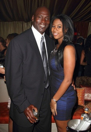 Michael Jordan with his daughter Jasmine Mickael Jordan