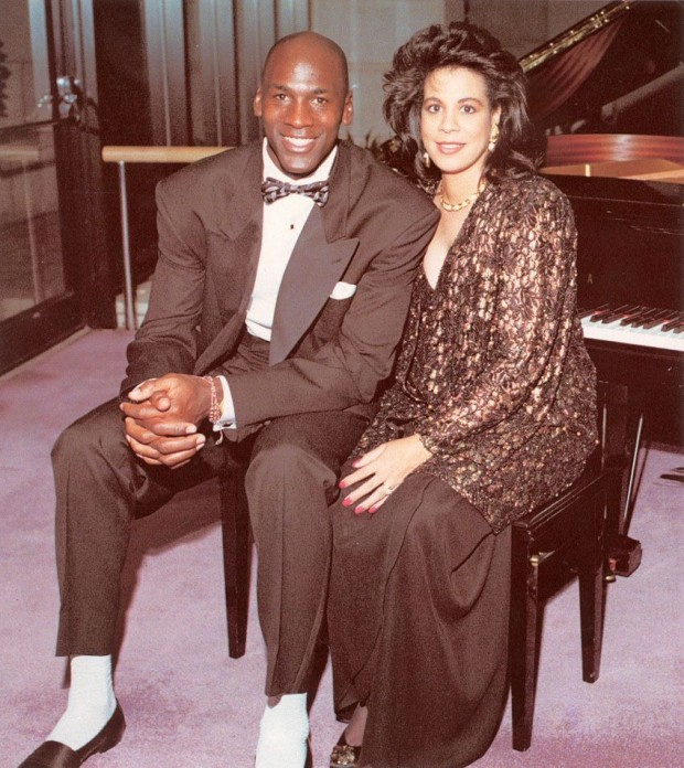 Michael Jordan with his ex-wife Juanita