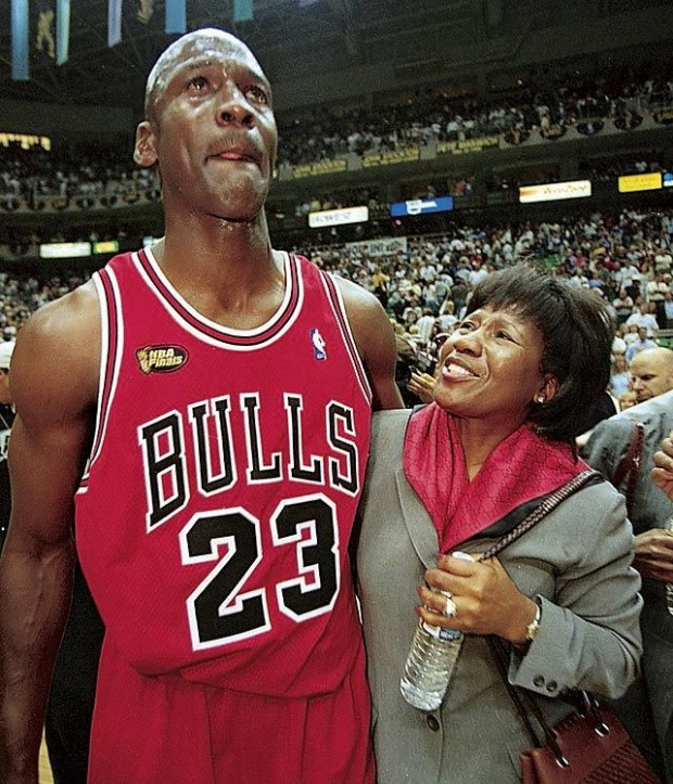 Michael Jordan with his mother Deloris Jordan