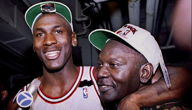 James Jordan with his son Michael Jordan