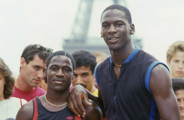 Michael Jordan with his brother Larry