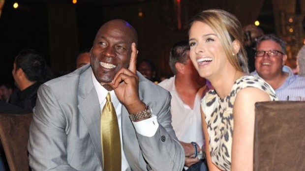 Michael Jordan with his wife Michael Jordan Yvette Prieto
