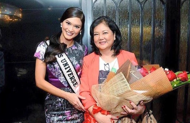 Miss Universe Pia Wurtzbach with Her Mother