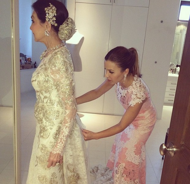 Monique Lhuillier Makes Custom Gown For Her Mom