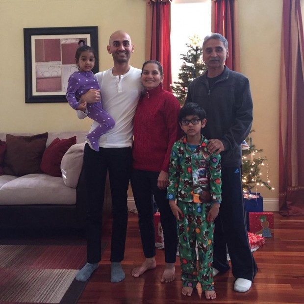 Neil Patel with His Family