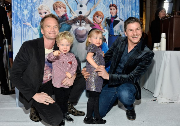 Neil Patrick Harris with his Wife David Burtka and his Kids
