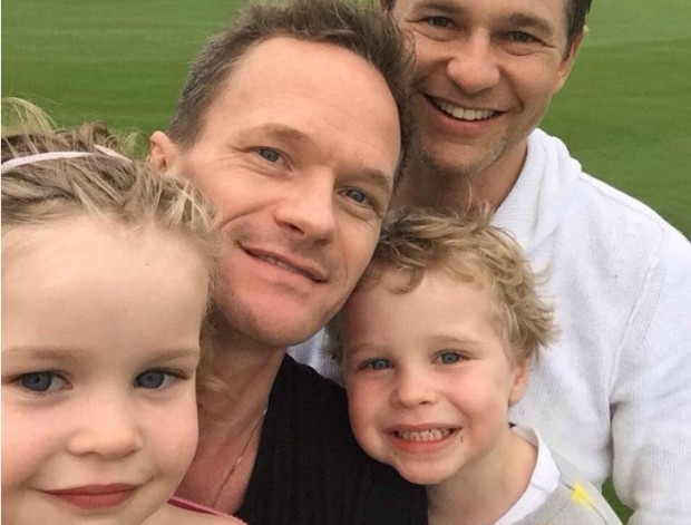 Neil Patrick Selfie With his Family