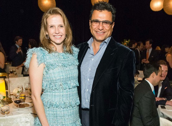 Omid Kordestani and his wife Gisel Hiscock