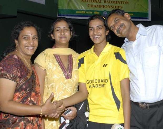 PV Sindhu Family, with her parents and sister