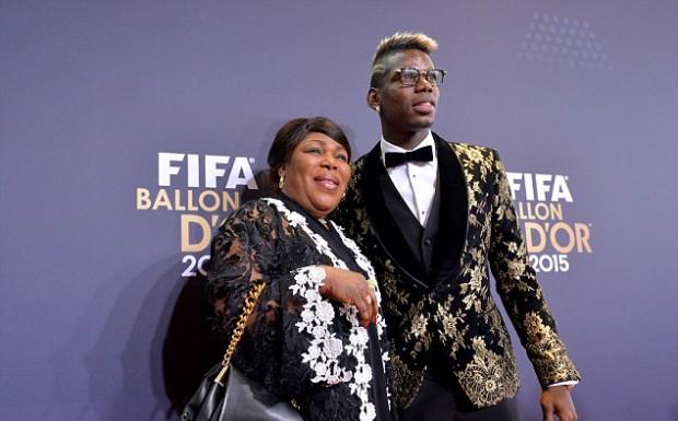 Pogba and his mother yeo at  FIFA Ballon d'Or awards