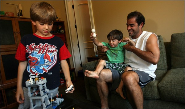 Pete Sampras With His Sons Christian and Ryan