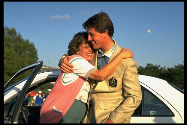 Phil with His Mom Mary Mickelson