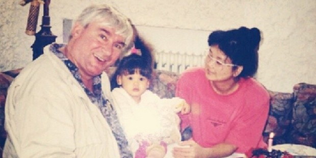 Pia Wurtzbach with Her Parents in Childhood