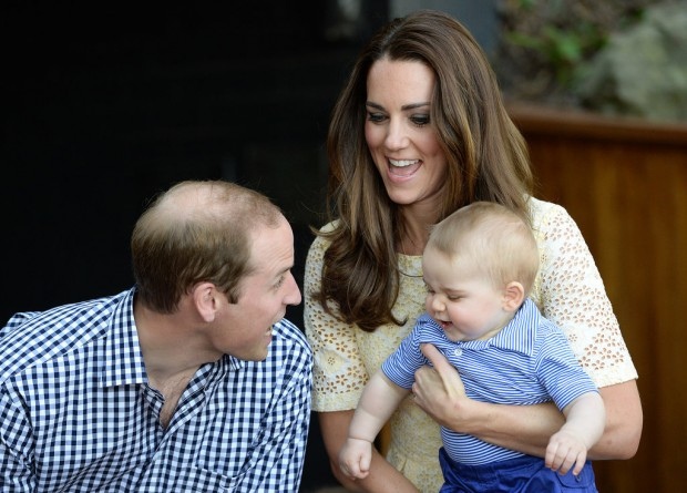 Kate Middleton and Prince Williams with their son Prince George