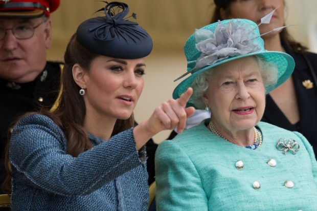 Kate Middleton with Queen Elizabeth II