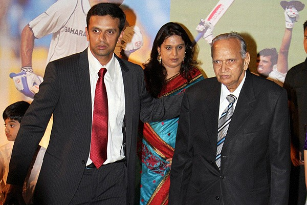 Rahul with His Father Sharad Dravid