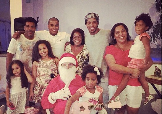Ronaldinho and his Family