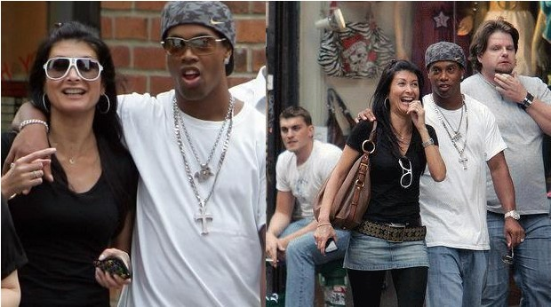 Ronaldinho with his Wife Janaina Mendes