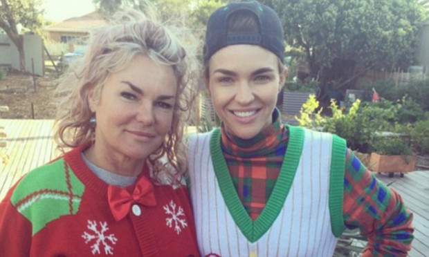 Ruby Rose Festive Sanp With Her Mother Katia