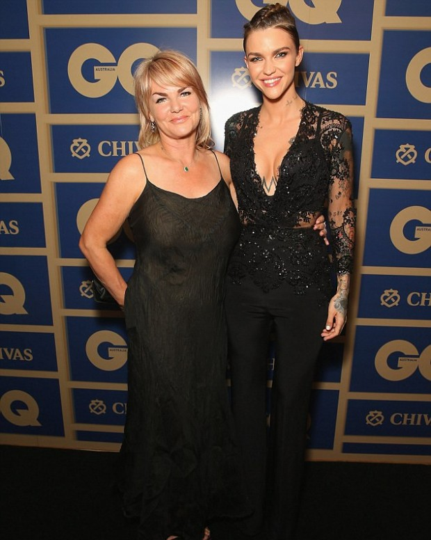 Ruby Rose With Her Mother Katia at GQ