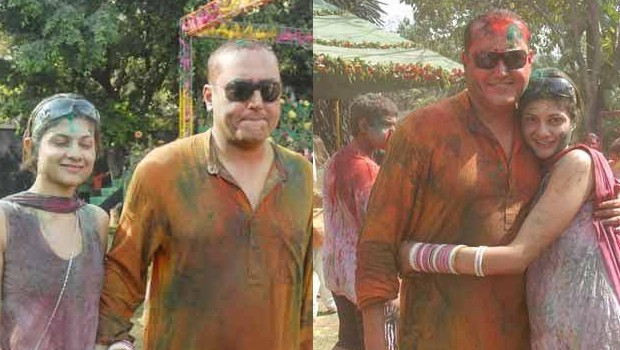 Sabeer Bhatia and His Wife Tania in Holi Celebrations