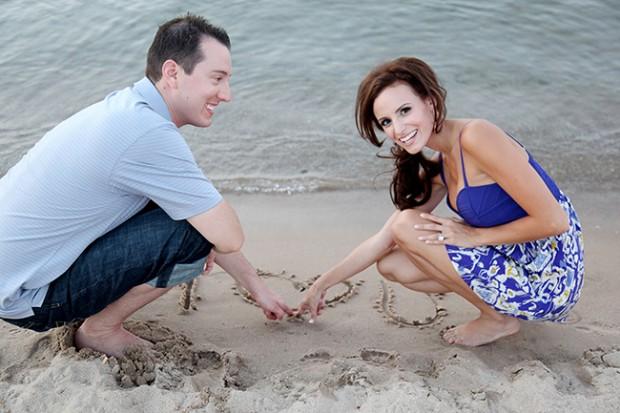 Samantha Busch and Kyle Busch