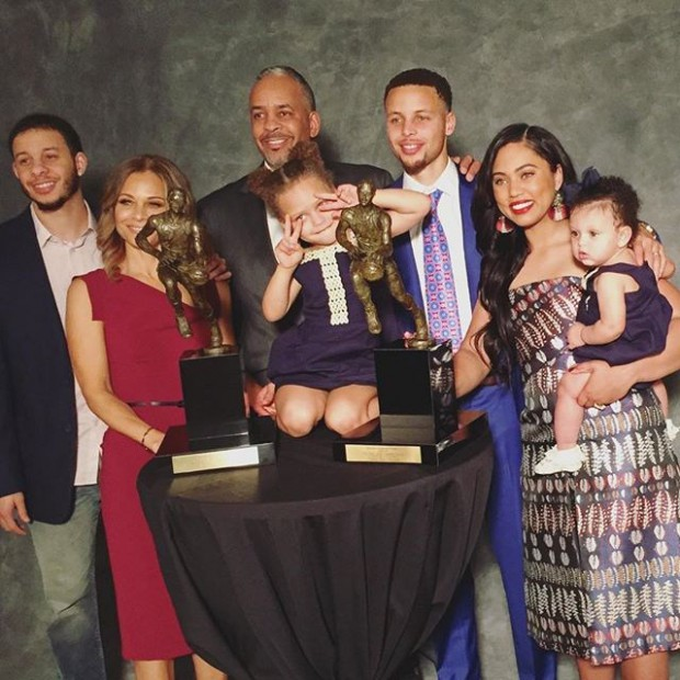 American Basketball player Stephen Curry Family Photo