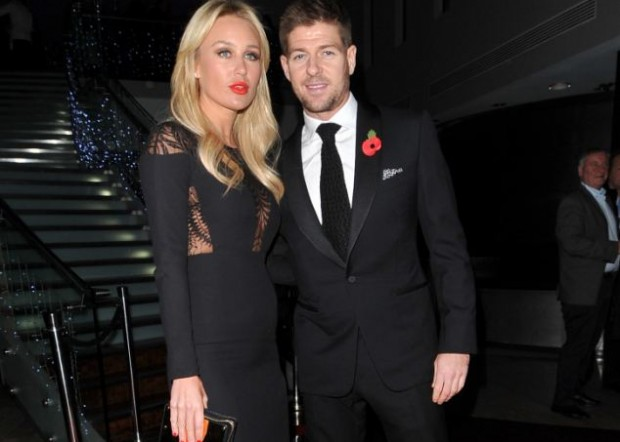 Steven Gerrard and his wife Alex at a charity event