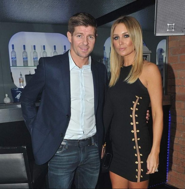 Steven Gerrard with his wife Alex Curran