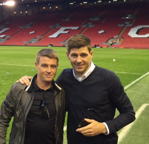 Steven Gerrard with his brother Paul Gerrard