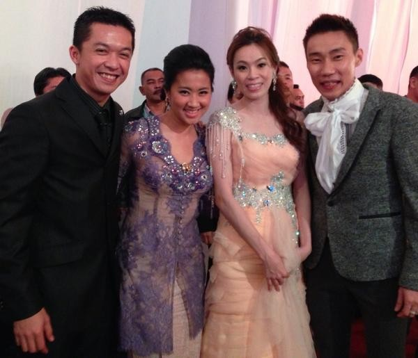 Taufik and His Wife at Lee Chong's Wedding