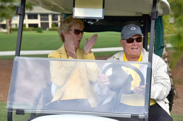 The Golden Bear with His wife