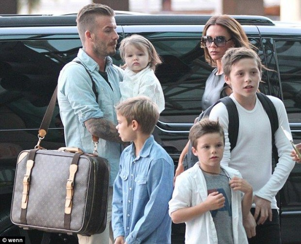 Victoria Beckham Family in Los Angeles