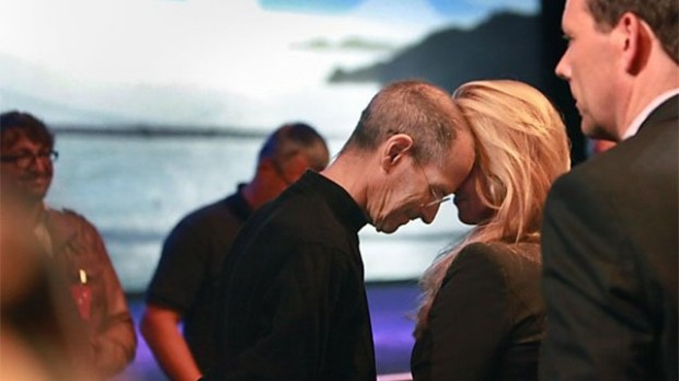 Steve with His Wife Lauren Powell at WWDC 2011 Keynote