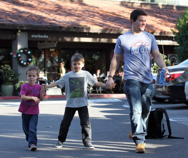 Mark Wahlberg with His Kids